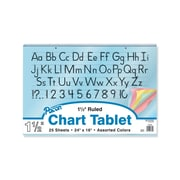 """Pacon® 24"""" x 16"""" 1 1/2"""" Ruled Colored Paper Chart Tablet, Assorted"""