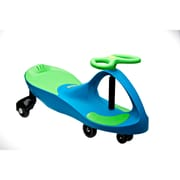 PlaSmart PlasmaCar® Ride-On Toy, Aqua Blue/Lime Green