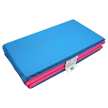 Peerless Plastic Blue/Pink Toddler Kindermat With Pillow, 3/4