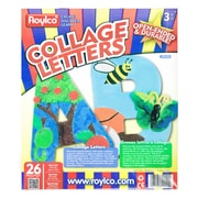"Roylco R52020 Multicolor Upper Case Collage Letters, 9"", 26/Pack"
