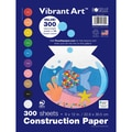 Roselle Vibrant Construction Paper, Assorted, 12in.(H) x 9in.(W), 300 Sheets