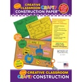 Roselle Creative Classroom Crafty Construction Paper™ 9in. x 12in. Construction Pad, Assorted, 40 Sheets