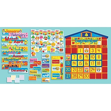 Scholastic® All-In-One Schoolhouse Calendar Bulletin Board