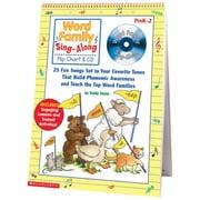 Scholastic® Word Family Sing Along Flip Chart & CD, Grades PreK - 2
