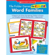Scholastic® Word Families File Folder Games, Grades Kindergarten - 2