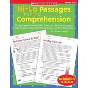 "Scholastic® ""Hi-Lo Passages to Build Comprehension"" Grade 5-6 Book, Language Arts/Reading"