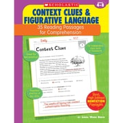 "Scholastic® ""Reading... Context Clues & Figurative Language"" Grade 4-6 Book, Language Arts/Reading"