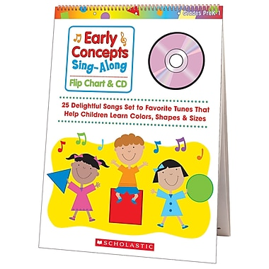 Scholastic® Early Concepts Sing Along Flip Chart With CD, Music