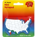 Creative Shapes Etc™ US Map Mini Notepad