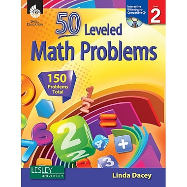 Shell Education 50 Leveled Math Problems Book With CD, Grades 2