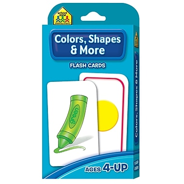 School Zone® Publishing Colors, Shapes Flash Cards, Grades Preschool - K
