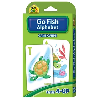 School Zone® Publishing Go Fish Alphabet Game Cards, Grades Preschool - 1