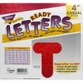 Trend Enterprises® Casual Uppercase Ready Letters, Red Sparkle