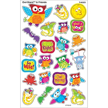 Trend Enterprises® Owl Stars and Friends Supershapes Large Sticker