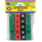 Teacher Created Resources TCR20605 Foam Operations Dice Grade Kindergarten - 4th Grade, Black/Green/Red