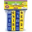 Teacher Created Resources TCR20609 Foam Numbered Dice Grades Kindergarten-4, Blue/Yellow