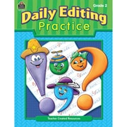 "Teacher Created Resources® ""Daily Editing Practice"" Grade 2 Book, Language Arts"