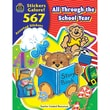 Teacher Created Resources All Through the School Year Sticker Book