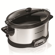 Hamilton Beach Stoneware Programmable Stay or Go Slow Cooker 6 Qt.