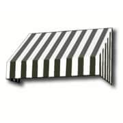 "Awntech® 16' New Yorker® Window/Entry Awning, 58"" x 36"", Black/White"