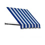 "Awntech® 6' Dallas Retro® Window/Entry Awning, 44"" x 36"", Bright Blue/White"