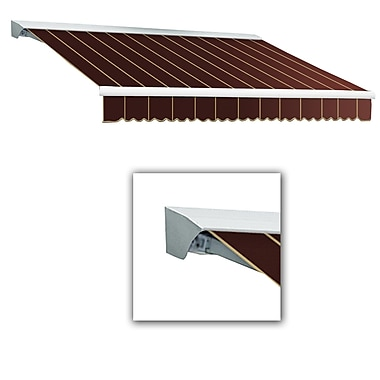 Awntech® Destin® LX Manual Retractable Awning, 12' x 10', Burgundy Pinstripe