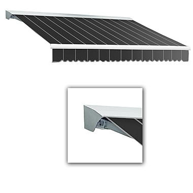 Awntech® Destin® LX Left Motor Retractable Awning, 10' x 8', Gun Pinstripe