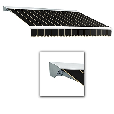 Awntech® Destin® LX Right Motor Retractable Awning, 12' x 10', Black Pinstripe