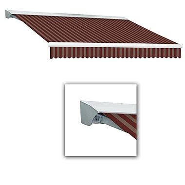 Awntech® Destin® EX Left Motor Retractable Awning, 10' x 8', Burgundy/Tan