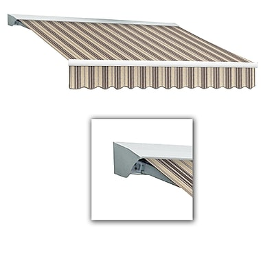 Awntech® Destin® LX Left Motor Retractable Awning, 12' x 10', Taupe Multi