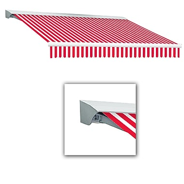 Awntech® Destin® LX Left Motor Retractable Awning, 10' x 8', Red/White