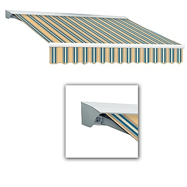 Awntech® Destin® LX Left Motor Retractable Awning, 10' x 8', Tan/Teal