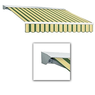 Awntech® Destin® LX Manual Retractable Awning, 8' x 7', Forest/Tan