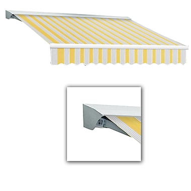 Awntech® Destin® LX Right Motor Retractable Awning, 12' x 10', Light Yellow/Gray