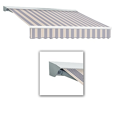 Awntech® Destin® LX Left Motor Retractable Awning, 12' x 10', Dusty Blue Multi
