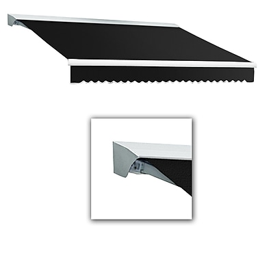 Awntech® Destin® EX Left Motor Retractable Awning, 8' x 7', Black