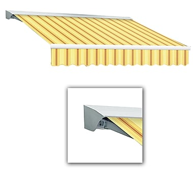 Awntech® Destin® LX Right Motor Retractable Awning, 10' x 8', Light Yellow/Terra