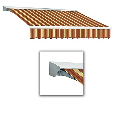 Awntech® Destin® LX Manual Retractable Awning, 12' x 10', Burgundy/Tan Wide