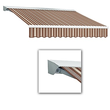 Awntech® Destin® LX Right Motor Retractable Awning, 12' x 10', Brown/Linen/Terra