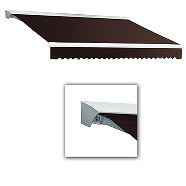 Awntech® Destin® LX Left Motor Retractable Awning, 12' x 10', Brown