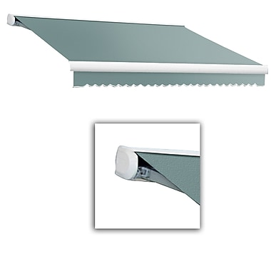 Awntech® Key West Full-Cassette Right Motor Retractable Awning, 10' x 8', Sage