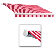 Awntech® Key West Full-Cassette Manual Retractable Awning, 18' x 10', Red/White