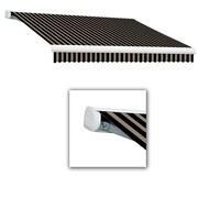 Awntech® Key West Left Motor Retractable Awning, 10' x 8', Black/Tan