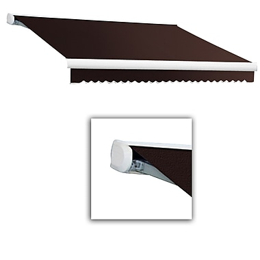 Awntech® Key West Full-Cassette Right Motor Retractable Awning, 8' x 7', Brown