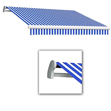 Awntech® Maui® LX Left Motor Retractable Awning, 12' x 10', Bright Blue/White