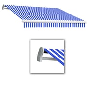 Awntech® Maui® LX Manual Retractable Awning, 10' x 8', Bright Blue/White