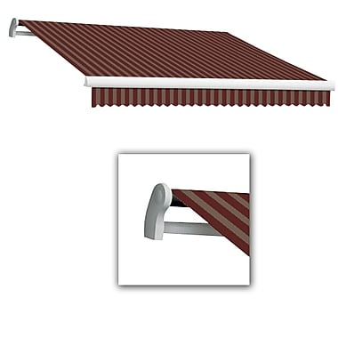 Awntech® Maui® LX Left Motor Retractable Awning, 12' x 10', Burgundy/Tan