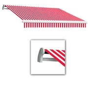 Awntech® Maui® LX Left Motor Retractable Awning, 10' x 8', Red/White