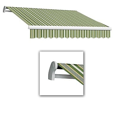 Awntech® Maui® LX Left Motor Retractable Awning, 8' x 7', Forest/Gray/Tan