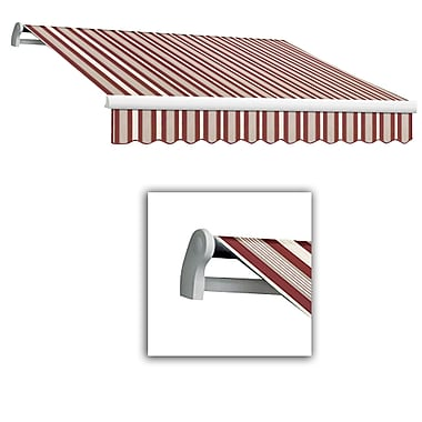 Awntech® Maui® LX Right Motor Retractable Awning, 10' x 8', Burgundy/Gray/White
